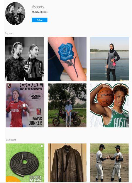 sporty hashtags for Instagram