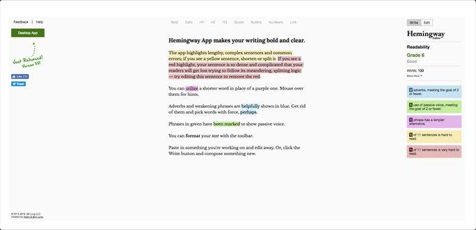 Make your writing bold