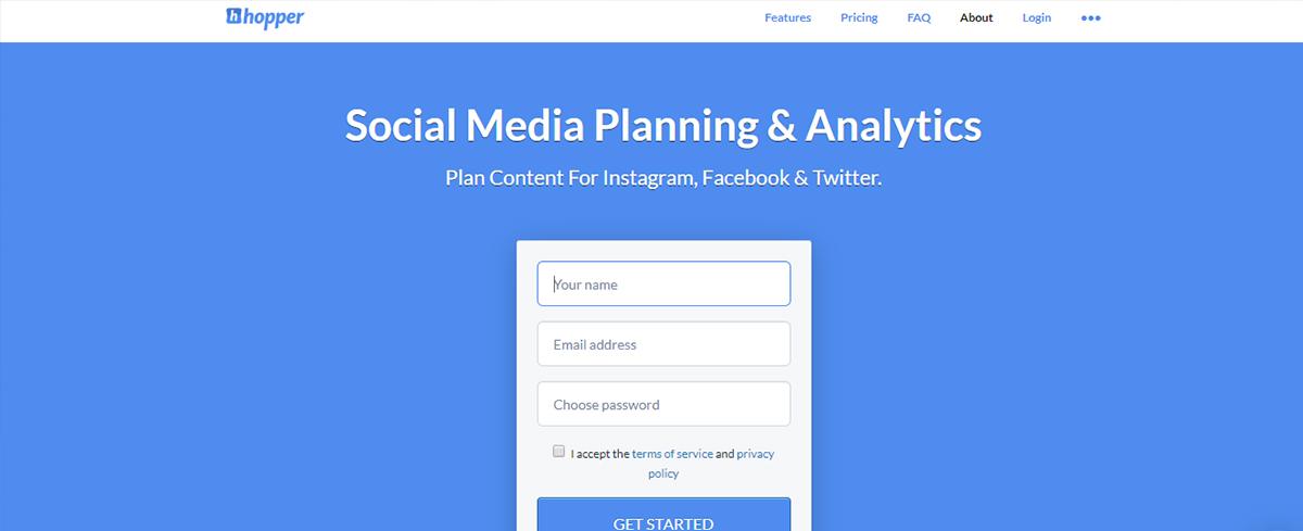 Social media calendar tool - Hooper HQ