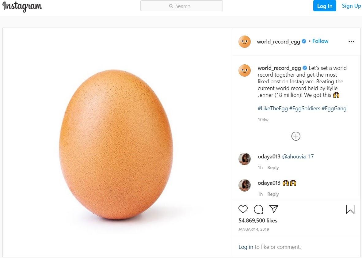 The Instagram Egg