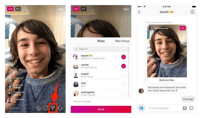 live stream from your Instagram