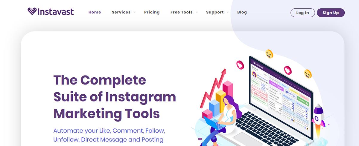 Instagram automation tool - Instavast