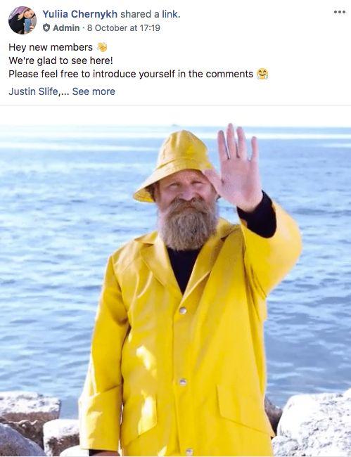 Engage facebook community