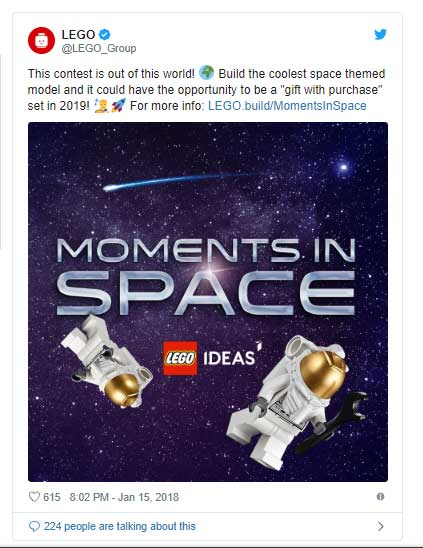 Lego Moments In Space - Social Media Post
