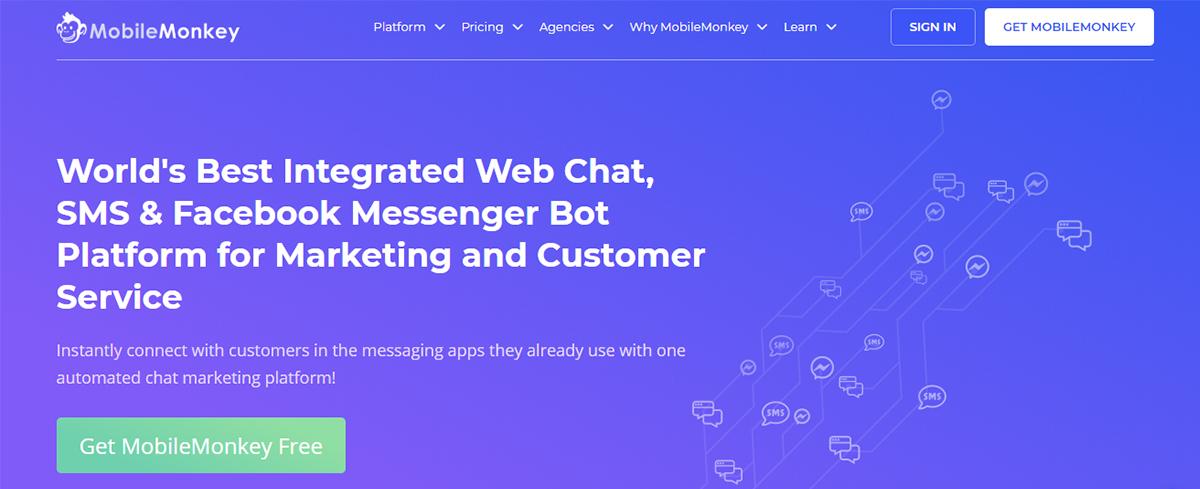 Facebook tool - MobileMonkey