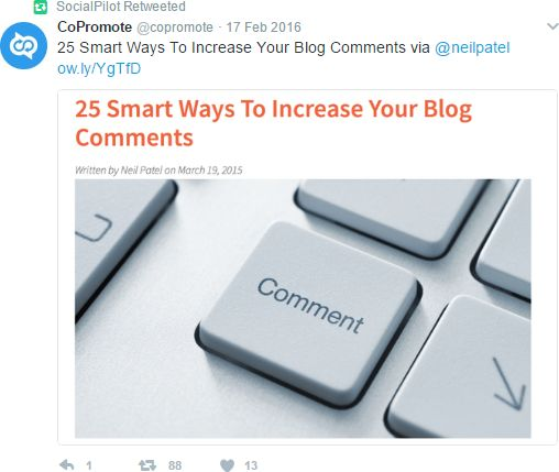 Share content of bloggers