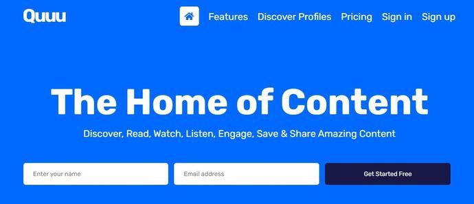Content curation tool - Quuu
