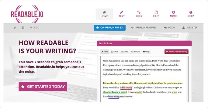 Easliy readable writing