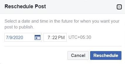 Reschedule Post