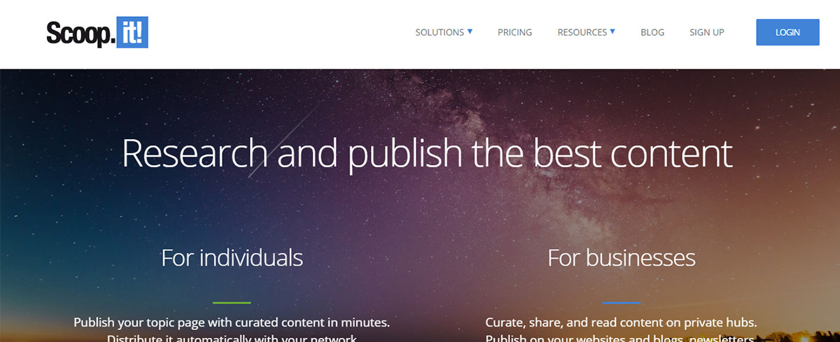 Content curation tool - Scoopit