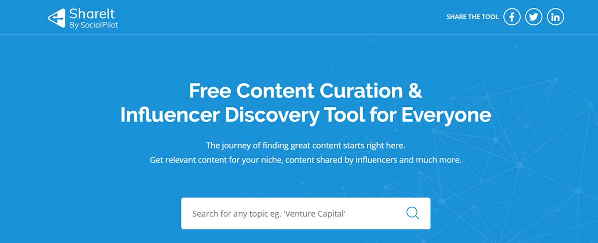 Free Content curation tool - ShareIt
