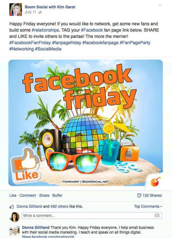 Kimgarst use hashtags lavishly