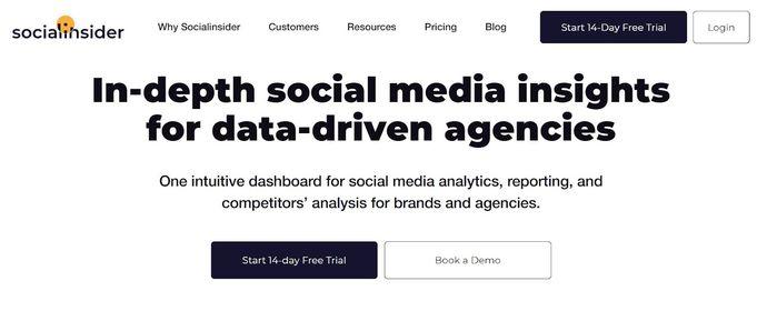 Instagram marketing tool - Socialinsider