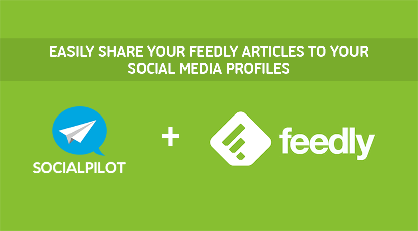 Share your feedly articles to your social media profiles