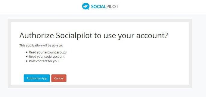 Authorize your SocialPilot account