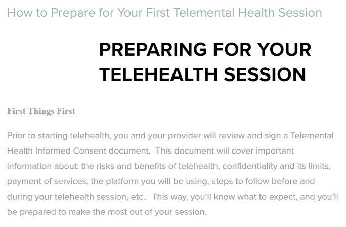 Telehealth Session
