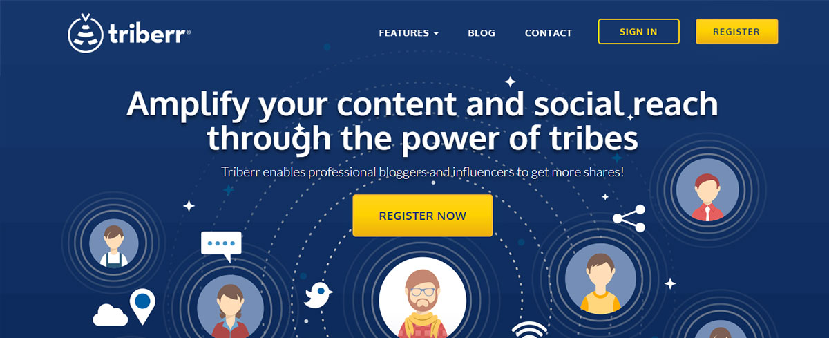 Content curation tool - Triberr