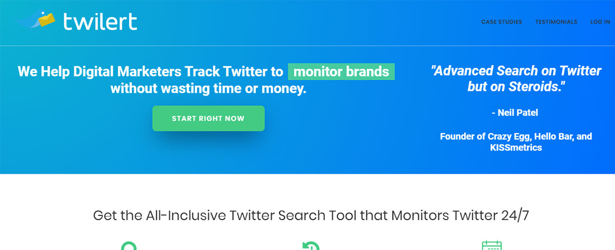 Twitter marketing tool - Twilert