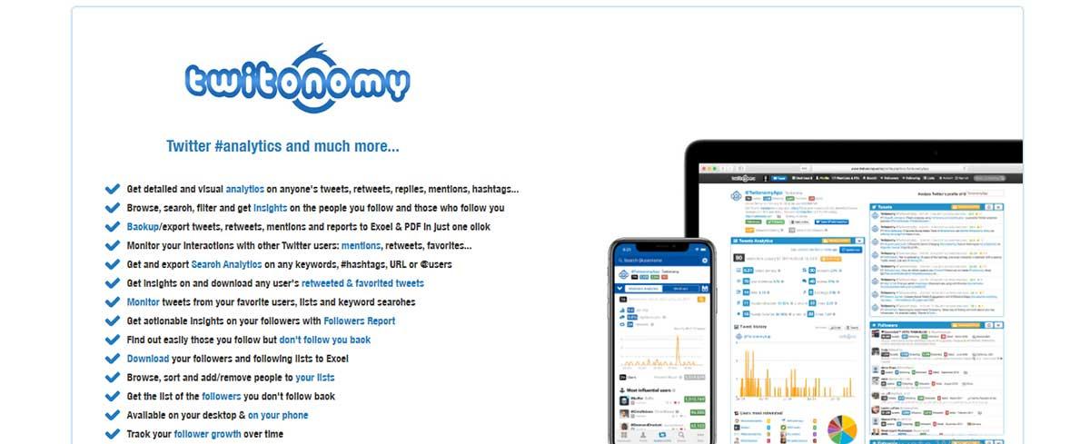 Twitter marketing tool - Twitonomy