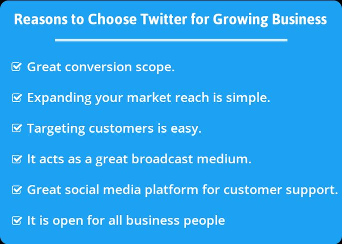 Reasons choose Twitter for business