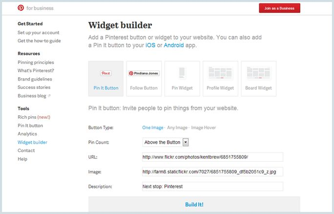 Add Pin it Button To Your Blog