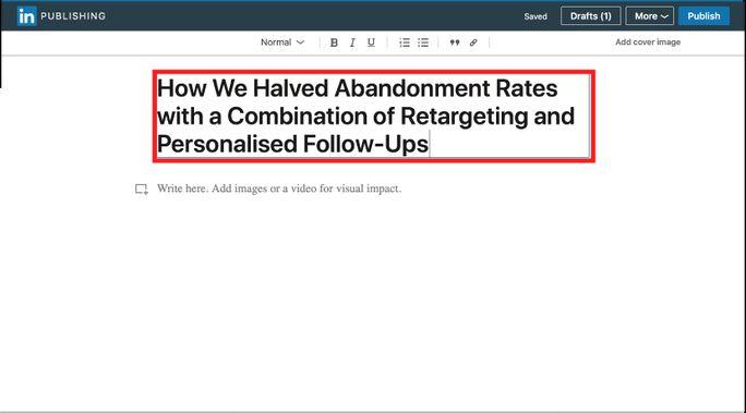 Linkedin marketing hack
