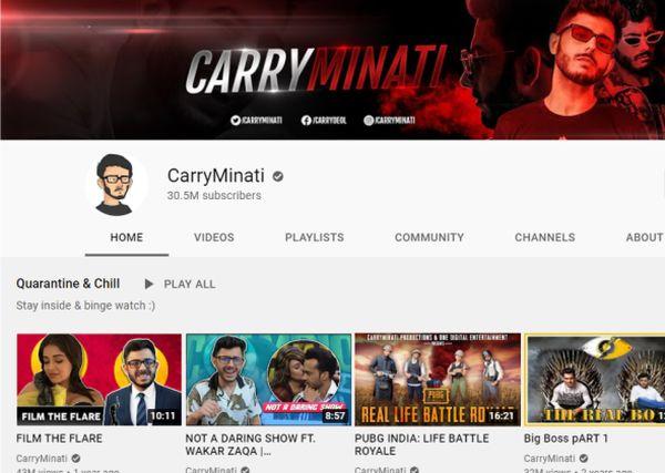 CarryMinati-youtube