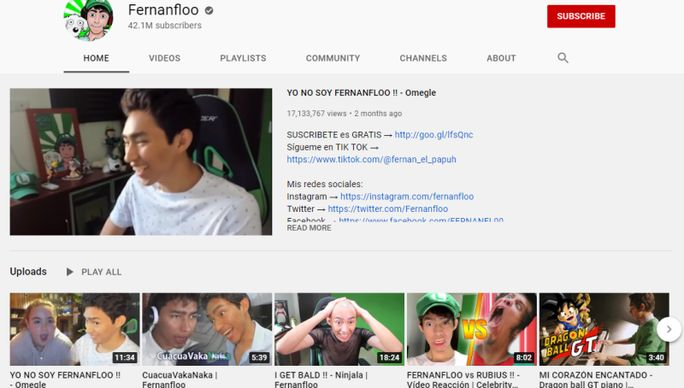 Fernanfloo-youtube