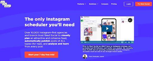 Instagram scheduling tools - Sked Social