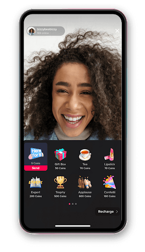 receive virtual gift