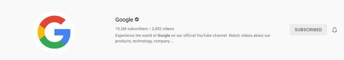 Googles-YouTube-account