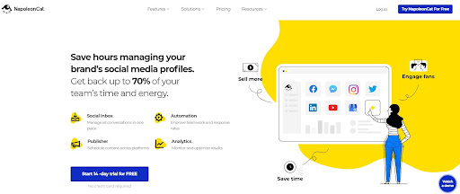 Social media management tool - NapoleanCat