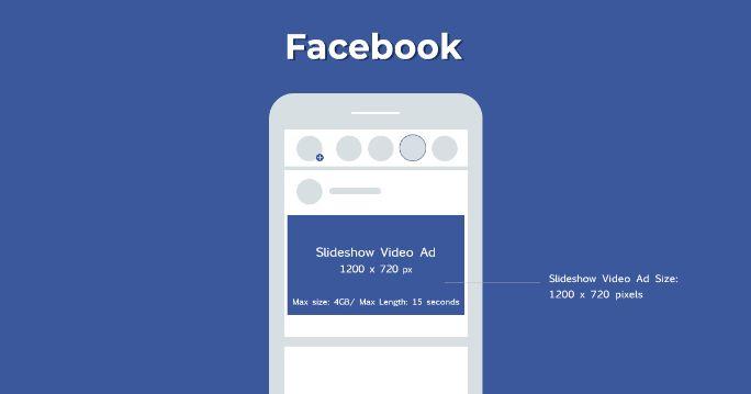 Facebook slideshow video ad size