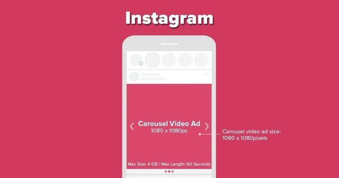 Instagram carousal video ad size