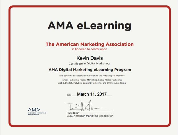 AMA Digital Marketing Certification